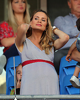 "Pictured: Charlotte Jackson, the wife of Chris Coleman at the Cardiff City Stadium Friday 08 July 2016<br /> Re: Thousands of fans are expected to line the streets to welcome back the Wales national team. An open top bus will parade through Cardiff, from Cardiff Castle to Cardiff City Stadium where the Manic Street Preachers will play to 33,000 people.<br /> The parade comes after Wales lost 2-0 to Portugal in the semi-final on Wednesday, with their historic run hailed as a performance which has ""changed Welsh football forever""."