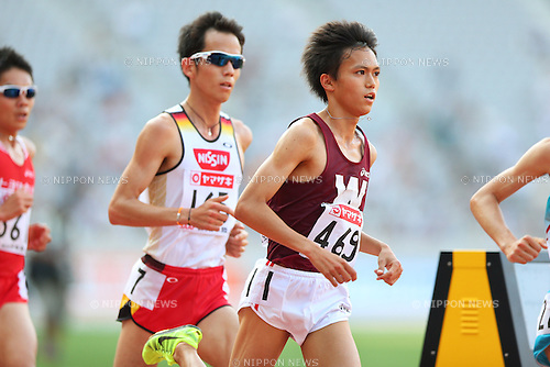 (L to R) Yuki Sato, Suguru Osako (JPN), <br /> June 8, 2013 - Athletics : <br /> The 97th Japan Athletics National Championships, Men's 10000m Final <br /> at Ajinomoto Stadium, Tokyo, Japan. <br /> (Photo by Daiju Kitamura/AFLO SPORT)