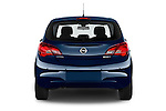 Straight rear view of a 2015 Opel CORSA Enjoy 5 Door Hatchback Rear View  stock images