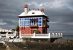 The Blue House, Casa Juanita, Arrieta, Lanzarote, Canary Islands, Spain built in 1916