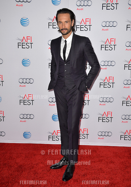 Actor Rodrigo Santoro at the premiere of his movie &quot;The 33&quot;, part of the AFI FEST 2015, at the TCL Chinese Theatre, Hollywood. <br /> November 9, 2015  Los Angeles, CA<br /> Picture: Paul Smith / Featureflash