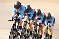 Picture by SWpix.com - 01/03/2018 - Cycling - 2018 UCI Track Cycling World Championships, Day 2 - Omnisport, Apeldoorn, Netherlands - Women's Team Pursuit First Round - Stephanie Roorda, Allison Beveridge, Ariane Bonhomme and Annie Foreman-Mackey of Canada