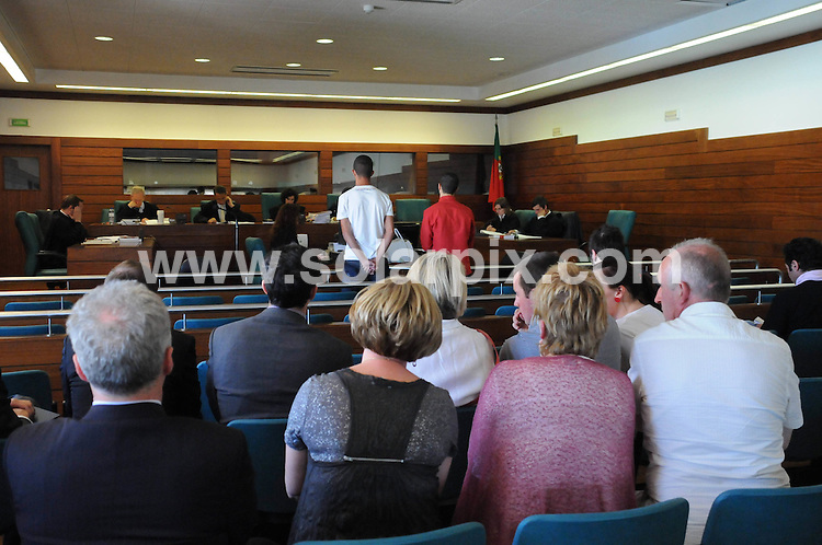 **ALL ROUND EXCLUSIVE PICTURES FROM SOLARPIX.COM**.**WORLDWIDE SYNDICATION RIGHTS**.Pictures from the court case in Portugal of those accused of the murder of Paul Houston in September 2009. Mr Houston, 51, from Londonderry, Northern ireland had been on a golfing holiday in Alvor with his wife Celine and another couple when he was found lying on the ground following a violent assault. Portimao, Algarve. Portugal. 4 May 2010..This pic: the accused - Jones Sousa dos Santos and Diego Dias..JOB REF: 11281 PPL        DATE: 04_05_2010.**MUST CREDIT SOLARPIX.COM OR DOUBLE FEE WILL BE CHARGED**.**MUST AGREE FEE BEFORE ONLINE USAGE**.**CALL US ON: +34 952 811 768 or LOW RATE FROM UK 0844 617 7637**