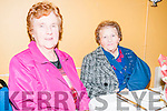 Moyvane Senior  Citizens Party: Attending the Moyvane Senior Citizens party at the Marian Hall, Moyvane on Sunday last were Mary Horgan & Noreen Flavin.