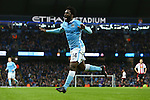 Wilfried Bony of Manchester City celebrates his sides third goal - Manchester City vs Sunderland - Barclays Premier League - Etihad Stadium - Manchester - 26/12/2015 Pic Philip Oldham/SportImage