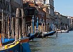Parked Gondolas Venice, Italy