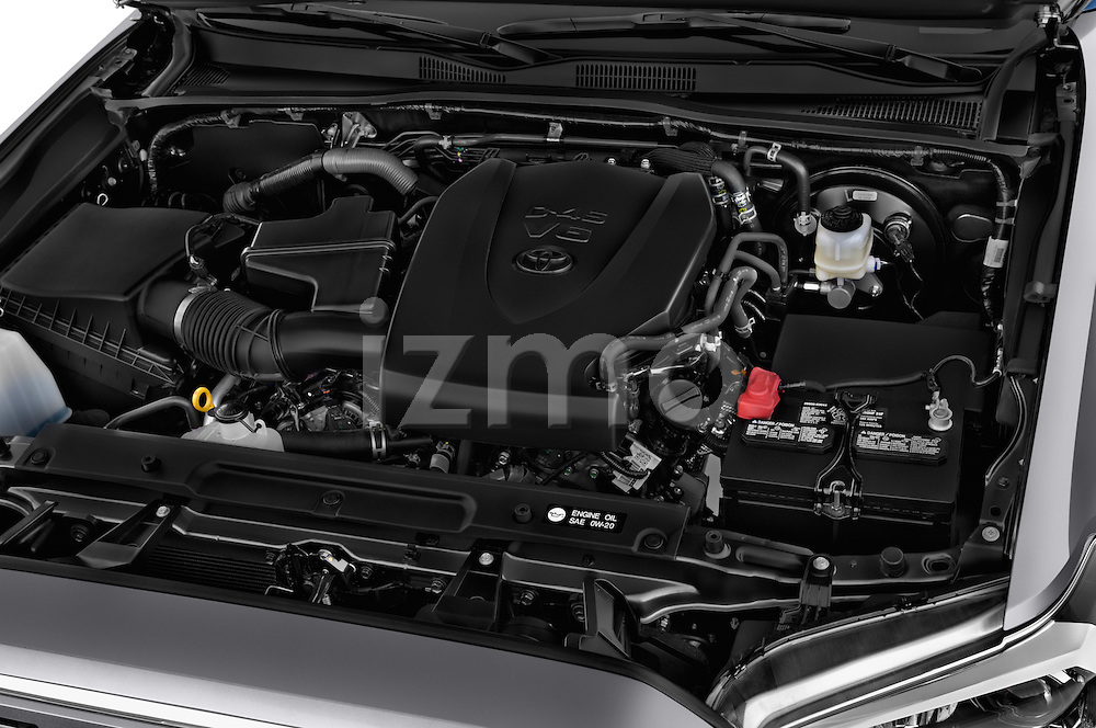 Car Stock 2016 Toyota Tacoma Limited 4 Door Pickup Engine high angle detail view