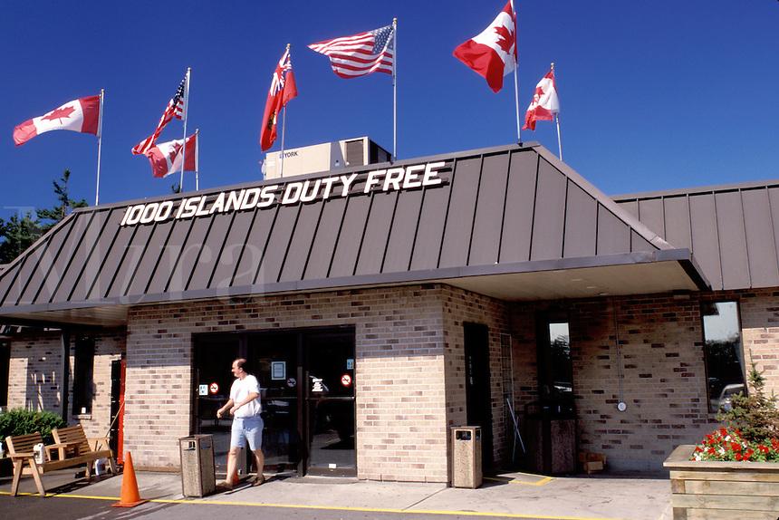 duty free shop, border, New York/Ontario, Canada, Thousand Islands, New York, NY, Thousand Islands Duty Free Shop.