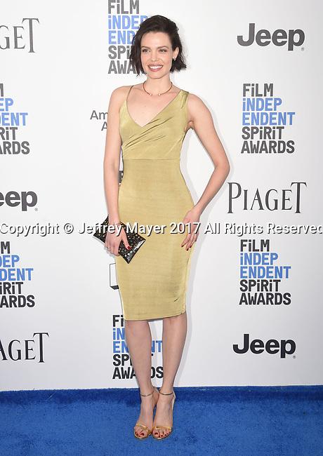 SANTA MONICA, CA - FEBRUARY 25: Actress Alizee Gaillard attends the 2017 Film Independent Spirit Awards at the Santa Monica Pier on February 25, 2017 in Santa Monica, California.