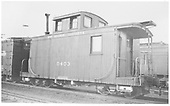RGS caboose #0403 ready to depart on a freight.<br /> RGS    Taken by Arend, Lad G. - 1945