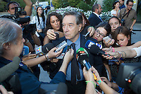 Inaki Gabilondo visits San Isidro funeral home following the death of Miguel Boyer in Madrid, Spain. September 29, 2014. (ALTERPHOTOS/Victor Blanco) /nortephoto.com