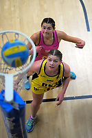 Action from the 2018 Beko National Netball League match between the Netball Central and Netball South at TSB Bank Arena in Wellington, New Zealand on Sunday, 1 July 2018. Photo: Dave Lintott / lintottphoto.co.nz