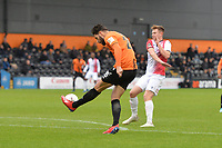 Dan Sweeney of Barnet kicks clear during Barnet vs Woking, Vanarama National League Football at the Hive Stadium on 12th October 2019