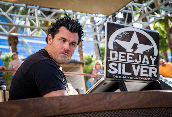 LAS VEGAS, NV - APRIL 2: ***HOUSE COVERAGE***  DJ Silver opens up as Uncle Kracker performs at a Kenny Chesney pre-concert Pool Party at Hard Rock Hotel & Casino in Las Vegas, NV on April 3, 2015. Credit: Erik Kabik Photography/MediaPunch
