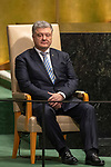 DSG meeting<br /> <br /> AM Plenary General DebateHis<br /> <br /> His Excellency Petro POROSHENKO President of Ukraine