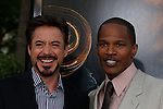 Robert Downey Jr and Jamie Foxx at the Los Angeles Premiere of 'The Soloist' at Paramount Studios in Los Angeles, California on April 20, 2009. .Photo by Nina Prommer/Milestone Photo