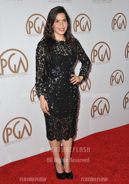 America Ferrera at the 26th Annual Producers Guild Awards at the Hyatt Regency Century Plaza Hotel.<br /> January 24, 2015  Los Angeles, CA<br /> Picture: Paul Smith / Featureflash
