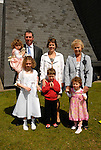 Ella McCarthy who made her First Holy Communion in Julianstown on Saturday pictured with her parents Sean and Lorraine, sisters Olivia and Keelin, brother Cathal and Nana May McDonnell.
