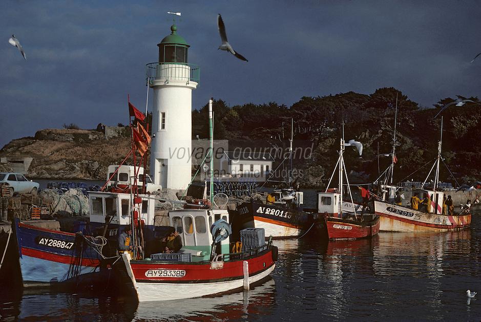 Europe/France/Bretagne/56/Morbihan/Belle-île/Sauzon: Bateaux de pêche au port