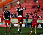 Harrison McGahey of Sheffield Utd warms upper match  during the Sky Bet League One match at Bramall Lane Stadium. Photo credit should read: Simon Bellis/Sportimage