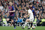 Real Madrid CF's Luka Modric and FC Barcelona's Ivan Rakitic (L), Leo Messi during the King's Cup semifinals match. February 27,2019. (ALTERPHOTOS/Alconada)