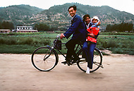 September; 1985. Shaanxi Province; China. A local family.