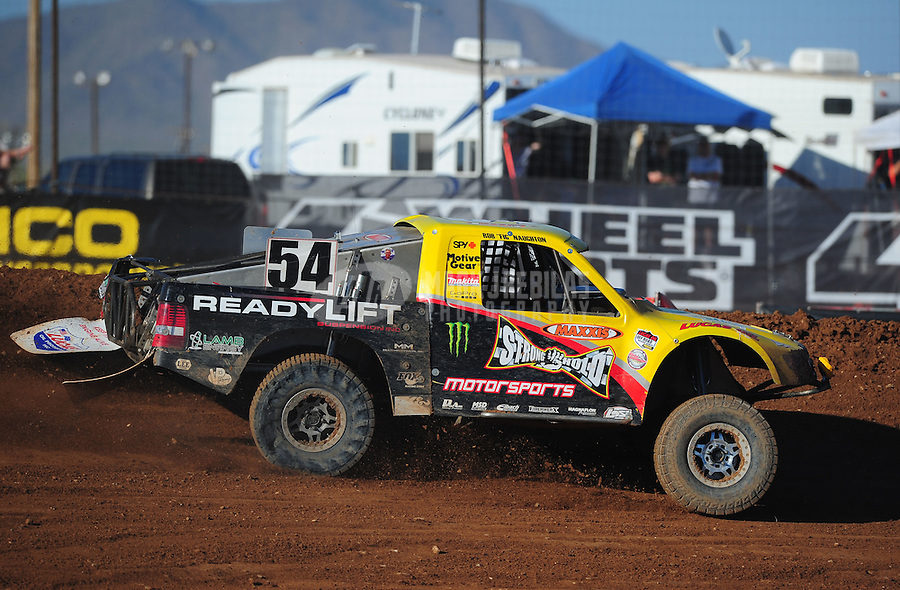 Apr 16, 2011; Surprise, AZ USA; LOORRS driver Rob Naughton (54) during round 3 at Speedworld Off Road Park. Mandatory Credit: Mark J. Rebilas-