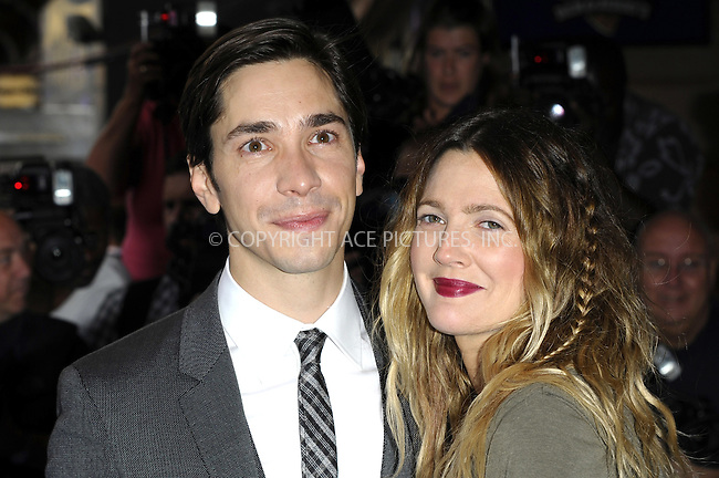 WWW.ACEPIXS.COM . . . . .  ..... . . . . US SALES ONLY . . . . .....August 19 2010, London....Actors Justin Long and Drew Barrymore arriving at the World Premiere of 'Going The Distance' at the Vue, Leicester Square on August 19, 2010 in London, England.....Please byline: FAMOUS-ACE PICTURES... . . . .  ....Ace Pictures, Inc:  ..Tel: (212) 243-8787..e-mail: info@acepixs.com..web: http://www.acepixs.com