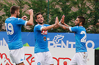 Esultanza Dries Mertens  Lorenzo Insigne  durante l'amichevole precampionate tra Napoli e Cittadella   Dimaro 29 Luglio 2015<br /> <br /> Friendly soccer match between   SSC Napoli  in Dimaro Italy July 28, 2015
