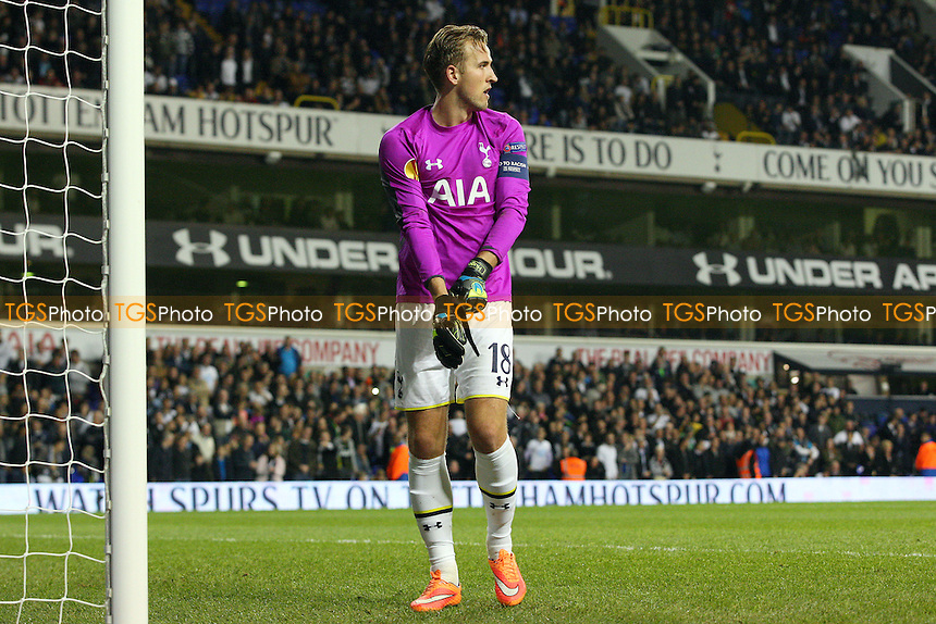Harry Kane of Tottenham Hotspur takes over in goal - Tottenham Hotspur vs Asteras Tripolis - Europa League  action at the White Hart Lane Stadium on 23/10/2014 - MANDATORY CREDIT: Dave Simpson/TGSPHOTO - Self billing applies where appropriate - 0845 094 6026 - contact@tgsphoto.co.uk - NO UNPAID USE
