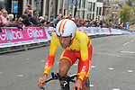 Nicolas Jonathan Castroviejo (ESP) in action during the Men Elite Individual Time Trial of the UCI World Championships 2019 running 54km from Northallerton to Harrogate, England. 25th September 2019.<br /> Picture: Seamus Yore | Cyclefile<br /> <br /> All photos usage must carry mandatory copyright credit (© Cyclefile | Seamus Yore)