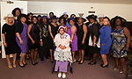 WATERBURY, CT-060317JS04-  Members of the Greater Waterbury Chapter of the National Congress of Black Women, Inc., at their annual Hat and Tea Scholarship Luncheon Saturday at the Mt. Olive A.M.E. Zion Church in Waterbury.  <br /> Jim Shannon Republican-American