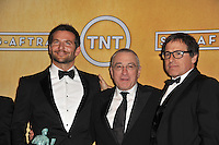 Bradley Cooper, Robert De Niro &amp; director David O. Russell at the 20th Annual Screen Actors Guild Awards at the Shrine Auditorium.<br /> January 18, 2014  Los Angeles, CA<br /> Picture: Paul Smith / Featureflash