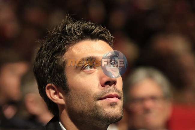 Thibaut Pinot (FRA) at the Tour de France 2020 route presentation held in the Palais des Congrès de Paris (Porte Maillot), Paris, France. 15th October 2019.<br /> Picture: Eoin Clarke | Cyclefile<br /> <br /> All photos usage must carry mandatory copyright credit (© Cyclefile | Eoin Clarke)