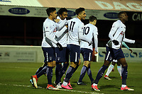 Kearan Bennetts of Tottenham is congratulated after scoring the opening goal during West Ham United Under-23 vs Tottenham Hotspur Under-23, Premier League 2 Football at the Chigwell Construction Stadium on 12th February 2018