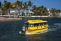 Yellow Water Taxi, Fort Lauderdale, Florida, FL, America, USA.