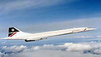 BNPS.co.uk (01202 558833)<br /> Pic: BAE/BNPS<br /> <br /> Concorde in flight. <br /> <br /> A  rare set of rudders that flew supersonic on a Concorde jet have emerged for sale at auction for a whopping £6,000.<br /> <br /> The pieces are painted in British Airways blue, red and white and are set to excite aeroplane buffs desperate to get their hands on a chunk of history.<br /> <br /> The upper rudder measures 4.1ft by 10.7ft by 4.4ft and has a BA Engineering cut out which was made to inspect for corrosion.<br /> <br /> Also included in the same sale are a pair of Concorde seats dating back to 1995.<br /> <br /> After being removed from the aircraft by BA they went on to be displayed on pre-production Concorde 101 G-AXDN plane.<br /> <br /> They are now mounted on wooden base for display purposes and come complete with original electrical connections.