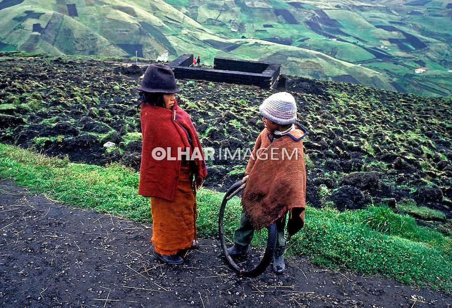 População indígena da Cordilheira dos Andes, Equador. 1987. Foto de Juca Martins.