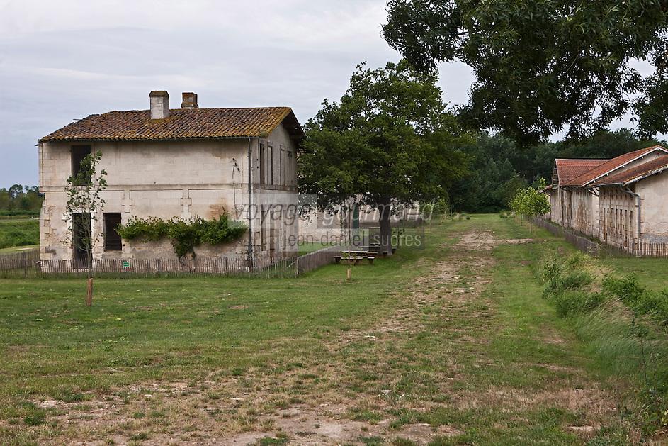 Europe/France/Aquitaine/33/Gironde/Env de Blaye: L'Ile Nouvelle sur l'Estuaire de la Gironde, les bâtiments d'habitation de l'ancien village  Sans-Pain - la rue principale