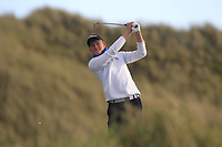 Patrick Naughton (Limerick) on the 13th tee during Round 3 of the Ulster Boys Championship at Portrush Golf Club, Portrush, Co. Antrim on the Valley course on Thursday 1st Nov 2018.<br /> Picture:  Thos Caffrey / www.golffile.ie<br /> <br /> All photo usage must carry mandatory copyright credit (&copy; Golffile | Thos Caffrey)