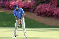 Kevin Kisner (USA) on the 13th green during the 1st round at the The Masters , Augusta National, Augusta, Georgia, USA. 11/04/2019.<br /> Picture Fran Caffrey / Golffile.ie<br /> <br /> All photo usage must carry mandatory copyright credit (© Golffile | Fran Caffrey)