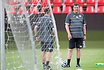 Spartak Trnava v St Johnstone...06.08.14  Europa League Qualifier 3rd Round<br /> Tommy Wright watches training in the FC Vion Stadium<br /> Picture by Graeme Hart.<br /> Copyright Perthshire Picture Agency<br /> Tel: 01738 623350  Mobile: 07990 594431