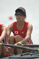 Beijing, CHINA, JPN, JW2X, bow, Michi SUGIHARA and Saki KAWARA, during the  2007. FISA Junior World Rowing Championships Shunyi Water Sports Complex. Wed. 08.08.2007  [Photo, Peter Spurrier/Intersport-images]..... , Rowing Course, Shun Yi Water Complex, Beijing, CHINA,