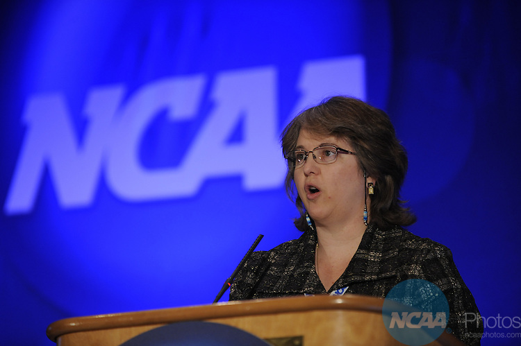 13 JAN 2010: Karen Morrison of the NCAA during the Education Session: Emerging and At Risk Sports at the 2010 NCAA Convention held at the Marriott Marquis and the Hyatt Regency in Atlanta, GA. Brett Wilhelm/NCAA Photos.