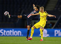Paris St Germain's Marquinhos in action with Borussia Dortmund's Erling Braut Haaland    <br /> Photo Pool/Panoramic/Insidefoto