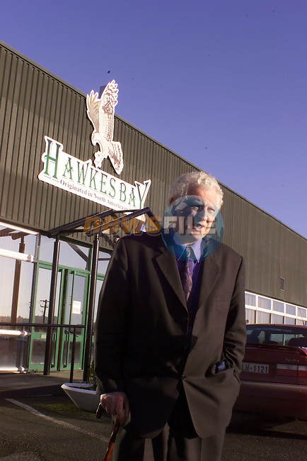 Seamus Kirk T.D. after visiting the Hawksbay factory in Ardee Co Louth..See Pat Flanagan Story..Pic Newsfile (Fran Caffrey)