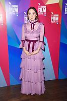 "Zoe Kazan<br /> arriving for the London Film Festival screening of ""Wildlife"" at the Cineworld Leicester Square, London<br /> <br /> ©Ash Knotek  D3442  13/10/2018"