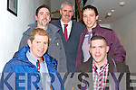 Fashion Show in Scartaglen Heritage Centre on Friday night, in aid of Scartaglen Ladies Football team.  Pictured here were some of the male models on the night.  Back Row L-R: Ger O'Connor, Hugh O'Connor and Denis Lenihan. Front Row L-R: Bernard Cronin and Pa Murphy.  All from Scartaglen.