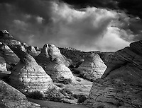 Hoodos with clouds. Vermillion-Cliffs Wilderness, Arizona/Utah<br /> <br /> C00233DL-3