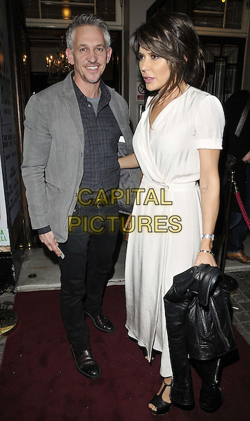 LONDON, ENGLAND - JANUARY 29: Gary Lineker &amp; Danielle Lineker attend the &quot;Di and Viv and Rose&quot; press night, Vaudeville Theatre, The Strand, on Thursday January 29, 2015 in London, England, UK. <br /> CAP/CAN<br /> &copy;Can Nguyen/Capital Pictures